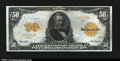 Large Size:Gold Certificates, Fr. 1199 $50 1913 Gold Certificate Very Fine. The surfaces ...