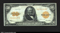 Large Size:Gold Certificates, Fr. 1200 $50 1922 Gold Certificate Extremely Fine. An ideal...