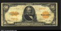 Large Size:Gold Certificates, Fr. 1200a $50 1922 Gold Certificate Fine. This is the much ...
