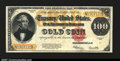 Large Size:Gold Certificates, Fr. 1215 $100 1922 Gold Certificate Choice Extremely Fine. ...