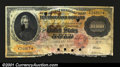 Large Size:Gold Certificates, Fr. 1225 $10,000 1900 Gold Certificate About Good. A punch ...