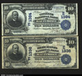 National Bank Notes:Maryland, A pair of Baltimore, MD Date Backs.$10 1902 Date Back Fr....