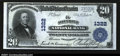 National Bank Notes:Pennsylvania, Allentown, PA $20 1902 Plain Back Fr. 650 The Allentown N...