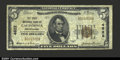 National Bank Notes:Pennsylvania, California, PA - $5 1929 Ty. 1. The First NB Ch. # 4622...