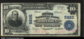 National Bank Notes:Pennsylvania, Donora, PA $10 1902 Plain Back Fr. 633 The First NB Ch....
