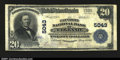 National Bank Notes:Pennsylvania, Elkland, PA - $20 1902 Plain Back Fr. 658 The Pattison NB...