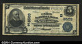 National Bank Notes:Pennsylvania, New Castle, PA- $5 1902 Plain Back Fr. 600 The Union NB...