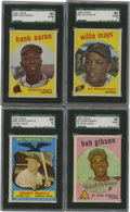 Baseball Cards:Sets, 1959 Topps Baseball Near Complete Set (549/572). Topps' 1959 baseball issue was known for its vivid use of color paired with...