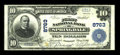 National Bank Notes:Arkansas, Springdale, AR - $10 1902 Plain Back Fr. 626 The First NB Ch. # 8763. The signatures are printed nicely on this example....