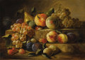 Fine Art - Painting, American:Antique  (Pre 1900), PAUL LACROIX (American 1827-1869). Two Tier Still Life withFruit, circa 1863-68. Oil on canvas. 12 x 16-7/8 inches (30...