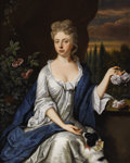 Paintings, BENJAMIN FERRERS (British d.1732). Lady Hockley, circa 1710. Oil on canvas. 50 x 40-3/8 inches (127 x 102.53 cm). Signed...