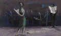 Fine Art - Painting, European:Contemporary   (1950 to present)  , LOUIS BOSA (Italian-American 1905-1981). Night Edition,1952. Oil on canvas. 15 x 25 inches (38.1 x 63.5 cm). Signed and...