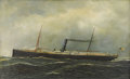 Fine Art - Painting, American:Modern  (1900 1949)  , ANTONIO JACOBSEN (American 1850-1921). Steamship Seguranca,1902. Oil on canvas. Inscribed lower right: AntonioJacobs...
