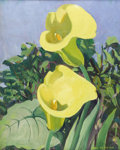 Fine Art - Painting, American:Modern  (1900 1949)  , JANE PETERSON (American 1876-1932). Lilies. Oil on canvas.29 x 23 inches (73.7 x 58.4 cm). Signed lower right:JANEPE...