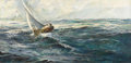Fine Art - Painting, American:Contemporary   (1950 to present)  , RICO TOMASO (American 1907-1989). Seascape, 1971. Oil oncanvas. 24-1/4 x 48 inches (61.6 x 121.9 cm). Signed lower righ...