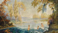Fine Art - Painting, American:Modern  (1900 1949)  , ANTHONY HENDERSON EUWER (American 1877-1955). The Water ofElysium, 1927. Oil on canvas. 30 x 50 inches (76.20 x 127cm)...