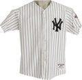 Baseball Collectibles:Uniforms, 2003 Roger Clemens Game Worn Jersey. An historic season for this first-ballot Hall of Famer and seven-time Cy Young Award w...