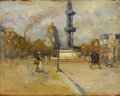 Fine Art - Painting, American:Modern  (1900 1949)  , ROBERT HENRI (American 1865-1929). Place In Paris (Place deBreteuil), circa 1895-1897. Oil on panel. 10-1/2 x 13-3/4 in...
