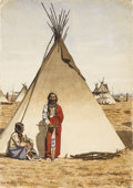 Paintings, MAYNARD DIXON (American 1875-1946). Ogalala Dakota. Watercolor on paper. 14-/12 x 10-1/2 inches (37 x 26.7 cm). Signed,...