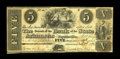 Obsoletes By State:Arkansas, Fayetteville, AR- Bank of the State of Arkansas $5 Nov. 1, 1838 G152 Rothert 186-6. This note was originally a post note, de...
