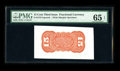 Fractional Currency:Third Issue, Fr. 1273SP 15¢ Third Issue Wide Margin Back PMG Gem Uncirculated 65 EPQ. A handsome and bright Red Back with its bold emboss...