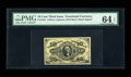 Fractional Currency:Third Issue, Fr. 1254 10¢ Third Issue PMG Choice Uncirculated 64 EPQ. The margins on this Jeffries-Spinner hand-autographed Ten Cent note...