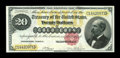 Large Size:Gold Certificates, Fr. 1178 $20 1882 Gold Certificate Superb Gem New. A fabulous Gold Twenty from this popular series, the most common issue of...