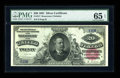 Large Size:Silver Certificates, Fr. 317 $20 1891 Silver Certificate PMG Gem Uncirculated 65 EPQ.Only about a half dozen Uncirculated examples are known for...
