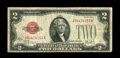 Error Notes:Inverted Reverses, Fr. 1503 $2 1928B Legal Tender. Fine-Very Fine. This example of thekey to the Small Size $2 notes has something we have nev...