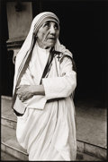 Photographs, MARY ELLEN MARK (American b.1941). Mother Teresa, Calcutta, 1980. Gelatin silver print. 12 x 8-1/2 inches (30.5 x 21 cm)...