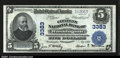 National Bank Notes:Pennsylvania, Washington, PA- $5 1902 Plain Back Fr. 598 The Citizens N...