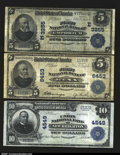 National Bank Notes:Pennsylvania, Trio of Large Size Pennsylvania Nationals. Emporium, PA -...