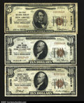 National Bank Notes:Pennsylvania, Three Pennsylvania NotesEast Stroudsburg, PA- $10 192...