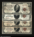 National Bank Notes:Pennsylvania, Four Small Size Pennsylvania Notes.Cresson, PA - $10 ...