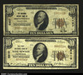 National Bank Notes:Pennsylvania, A Pair of Pennsylvania Small Size Nationals.Brownsville...