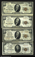 National Bank Notes:Pennsylvania, Pennsylvania Small Size Quartet.Greencastle, PA - $10...