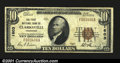 National Bank Notes:Tennessee, Clarksville, TN- $10 1929 Ty. 1 The First NB Ch. # 1603...
