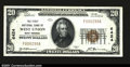 National Bank Notes:West Virginia, West Union, WV- $20 1929 Ty. 1 The First NB Ch. # 6424...