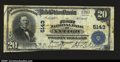National Bank Notes:Wisconsin, Antigo, WI - $20 1902 Plain Back Fr. 658 The First NB C...
