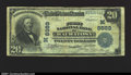National Bank Notes:Wisconsin, Wauwatosa, WI- $20 1902 Plain Back Fr. 652 First NB Ch....