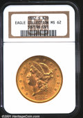1882-S $20 MS62 NGC. The 1882-S is much more available in MS60-62 grades than the 1878 through 1881 Double Eagles from S...
