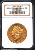Liberty Double Eagles: , 1891-CC $20
