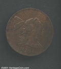 1794 1C Head of 1793 AU55 Damaged Uncertified. S-19b, R.4. All die marriages of the 1794 Head of 1793 Cent are scarce, i...