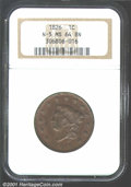 1826 1C MS64 Brown NGC. N-5, High R.2. This is an attractive coin with a noteworthy sharpness of strike that leaves only...