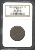 1846 1C Medium Date MS64 Brown NGC. N-11, R.1. Easily obtainable in lower grades, N-11 is an elusive die marriage in Min...