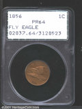 1856 1C PR64 PCGS. Snow-9. Examples of this die marriage are the most frequently encountered 1856 Flying Eagle Cents in...