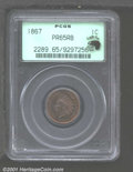 Proof Indian Cents: , 1867 1C, RB