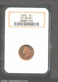 Proof Indian Cents: , 1870 1C, RD