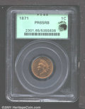 Proof Indian Cents: , 1871 1C, RB