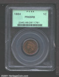 Proof Indian Cents: , 1884 1C, RB